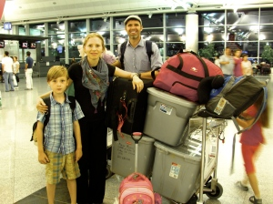Aaron and his family in Turkey
