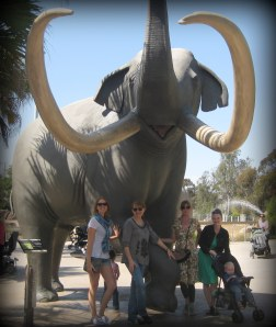 Hanging out with friends at the San Diego Zoo.