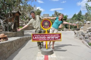 Here we are straddling the equator!