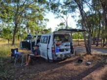 Road side camping, Australia