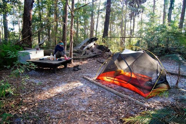 Overnight camping on Fraser Island, Australia