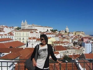 Adriana enjoying some gorgeous views of Lisbon.